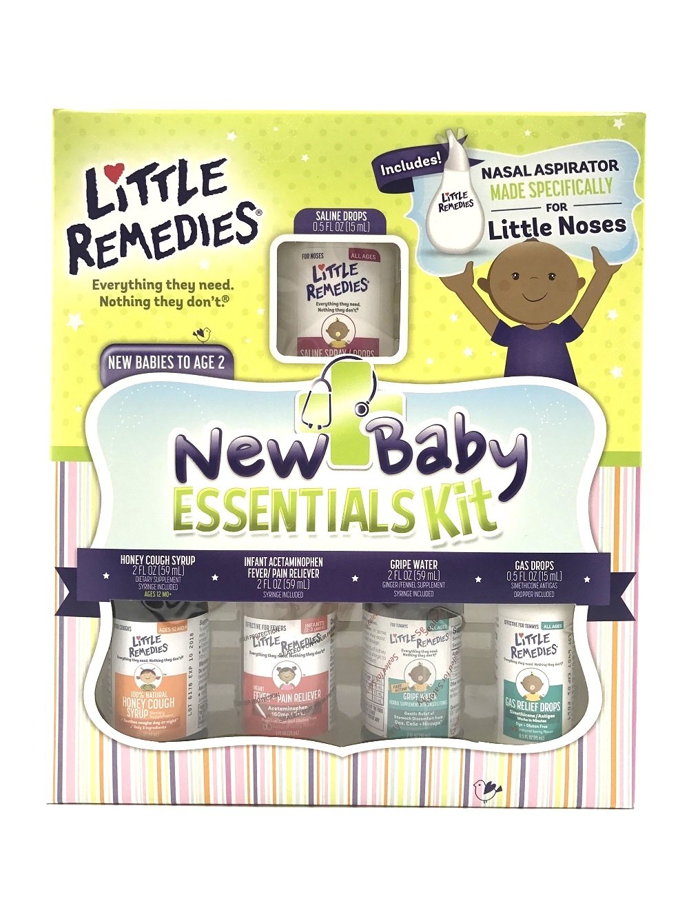 Little Remedies New Baby Essentials Kit | A Gift Set for New Moms | 6 Products Featuring Little Remedies & Boudreaux's Butt Paste Products Prestige Brands 10756184107208