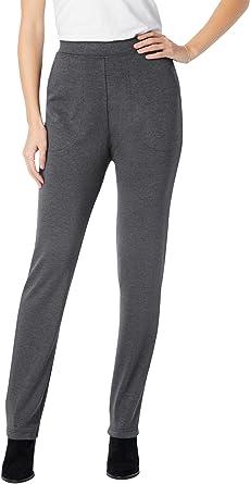 Woman Within Womens Plus Size Straight Leg Ponte Knit Pant