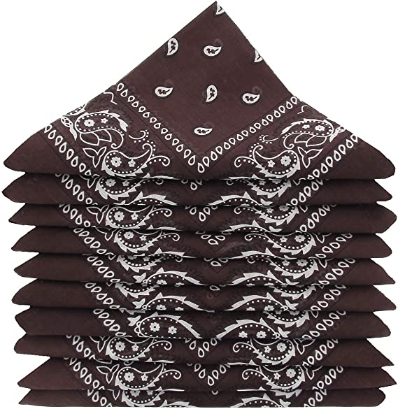 Pack of 5//10//20 KARL LOVEN Pack of bandanas 100/% Cotton Paisley Neckerchief Head Neck Scarf