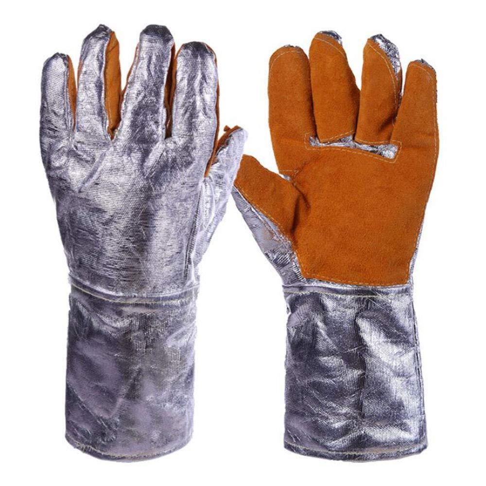 KYCD Gloves Guanti Resistenti alle Alte Temperature, Fogli di Alluminio, Radiazioni di Calore, Protezione Industriale a 500 Gradi, Guanti, Guanti