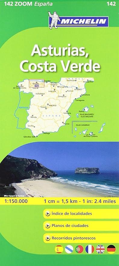 Mapa Costa De Asturias.Mapa Zoom Asturias Costa Verde Mapas Zoom Michelin Vv Aa