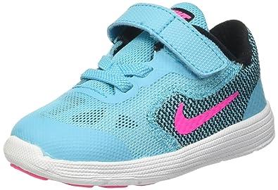 timeless design 7443a b0920 Nike Revolution 3 TDV, Chaussures Premiers Pas pour Bébé Fille,  Multicolore-Multicolore (