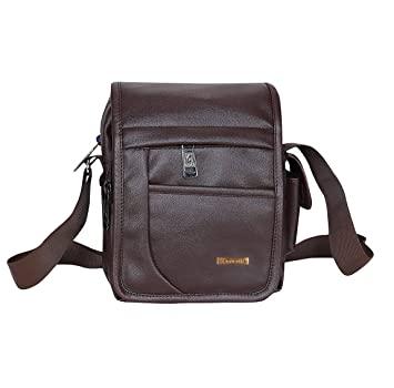 46bd2536d97f Handcuffs BF0005 Leather Messenger Bag (Brown)  Amazon.in  Bags ...