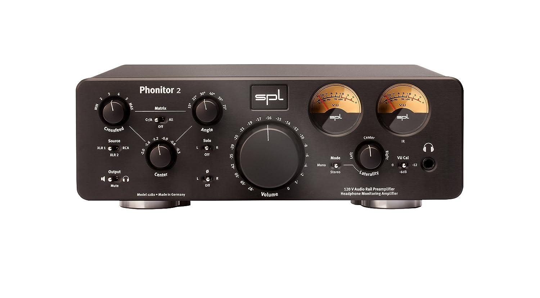 SPL ヘッドホンアンプ スピーカーシミュレーション機能搭載 Model 1280 ブラック Phonitor 2 B00N0J81LS ブラック
