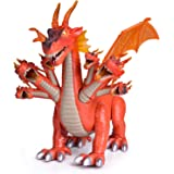 "FUN LITTLE TOYS 10"" Dragon Toys for Boys and Girls, 7 Headed Walking Toy Dragon Figure with Lights and Sounds, Birthday Gifts"