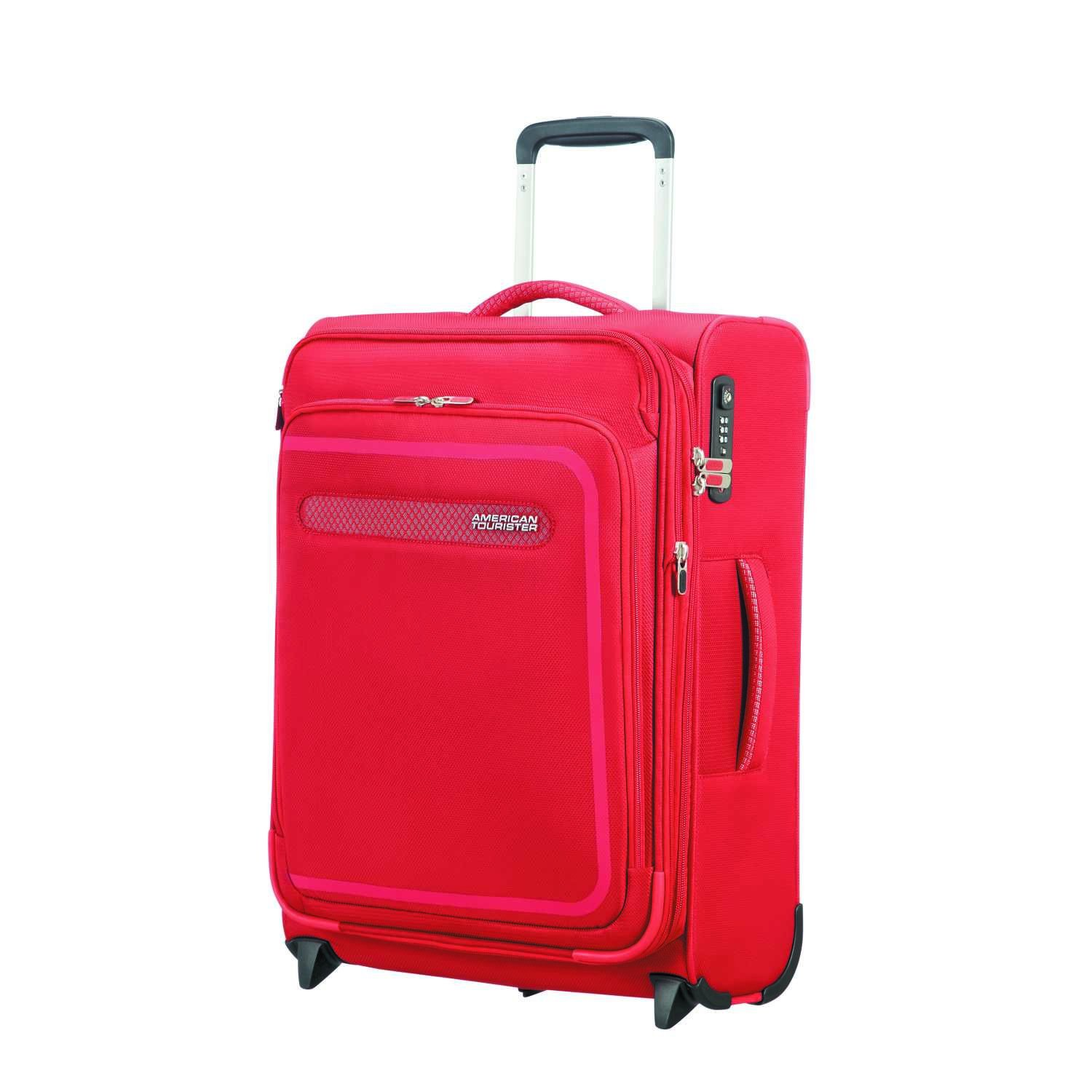 American Tourister Airbeat - Upright 55/20 Expandable Bagage cabine, 55 cm, 48 liters, Rouge (Pure Red)