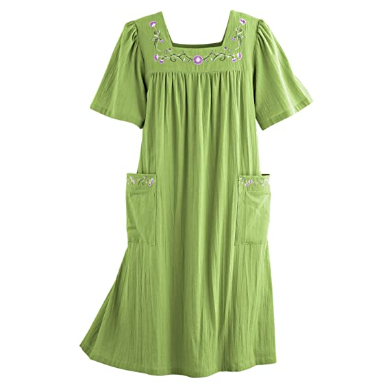 Blair Womenu0027s Plus Size Patio Dress   XL Grasshopper
