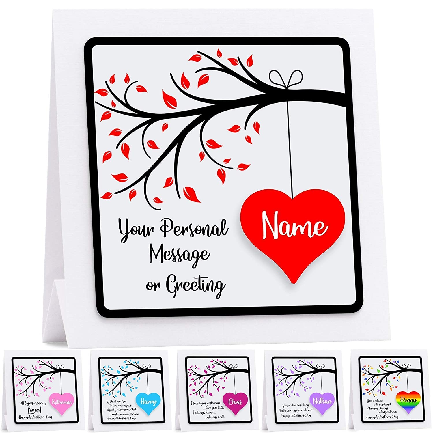 Personalised Valentines Card 3D Gay Valentine's Husband Wife Boyfriend  Girlfriend Fiance Fiancee Choice Of 19 Quotes/Personal Message LGBT:  Amazon.co.uk: ...
