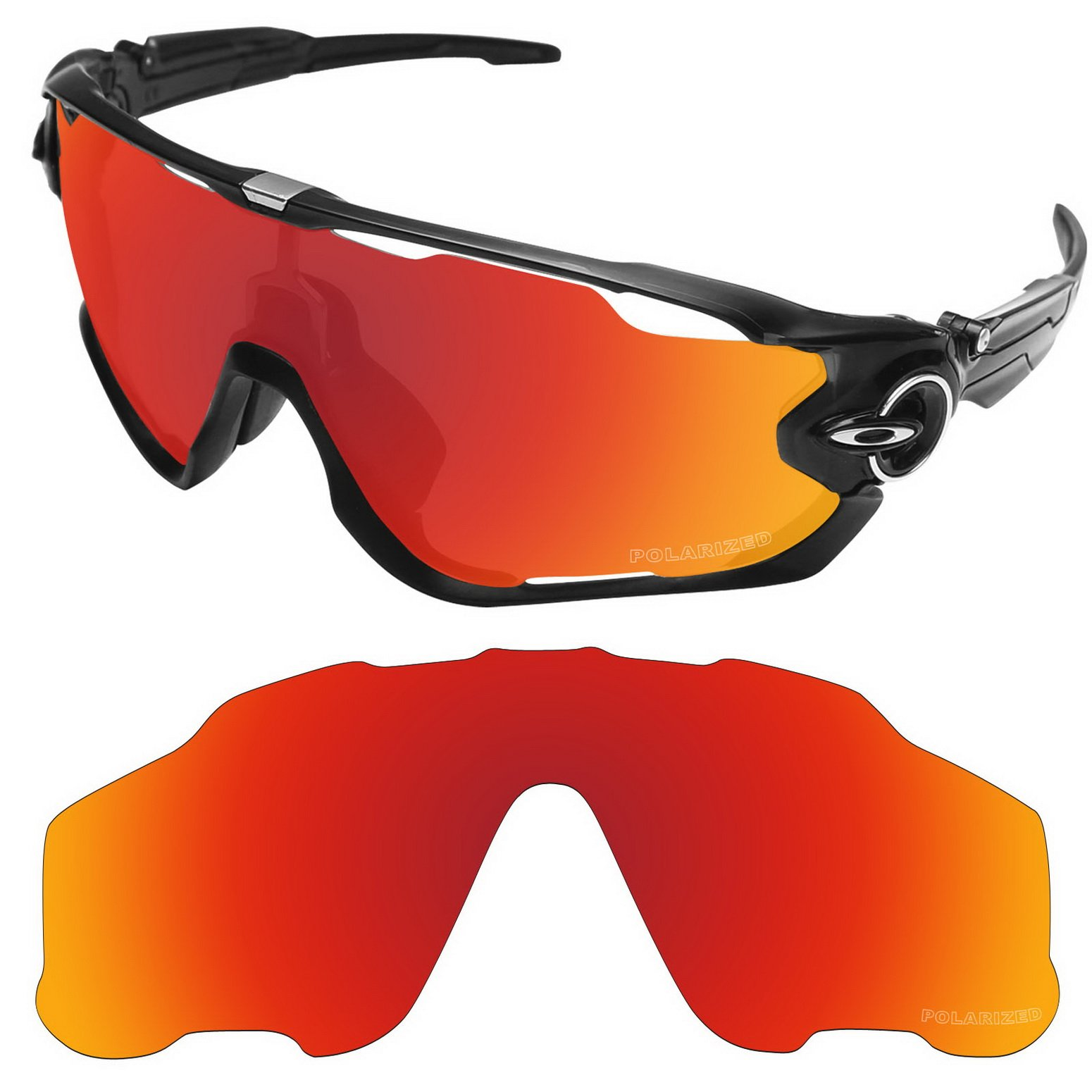 d8c402d291 Tintart Performance Lenses Compatible with Oakley Jawbreaker Polarized  Etched-Fire Red