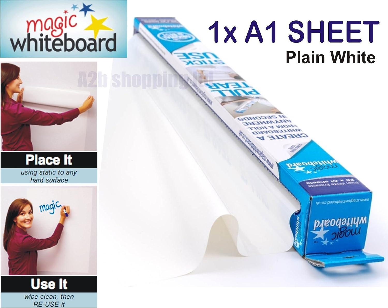 Magic Whiteboard Sheets A1 White Dry Erasable Paper Plain Roll Self Vinyl Stick 10x A1 Sheets