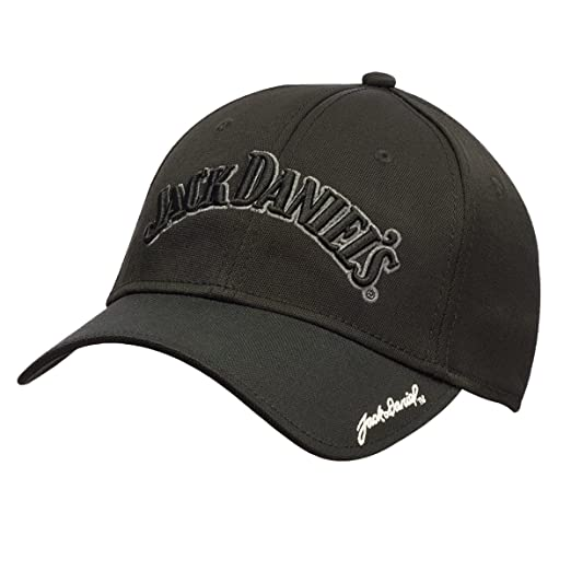 e2b0eb7cfe0 F M Hat Company Jack Daniels Gray and Black Embroidered Cap at ...