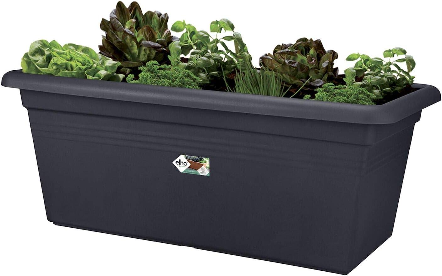 Drau/ßen L 39 x W 78 x H 34.2 cm Baumwoll Weiss Elho Green Basics Garten Xxl 80 /Übertopf
