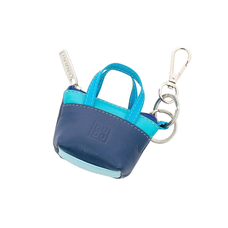 050ba7078b DUDU Porte-clés à Petit Sac Porte-Monnaie en Cuir coloré avec Fermeture Zip  2 Anneaux et Mousqueton Bleu: Amazon.fr: Bagages