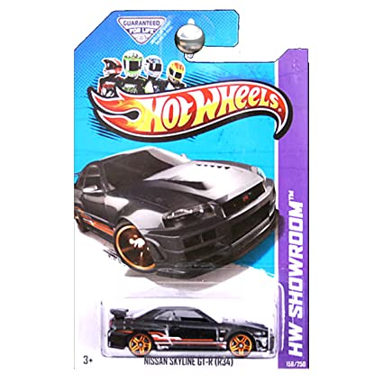 Hot Wheels 2013 Hw Showroom Nissan Skyline GT R GTR R34 Black