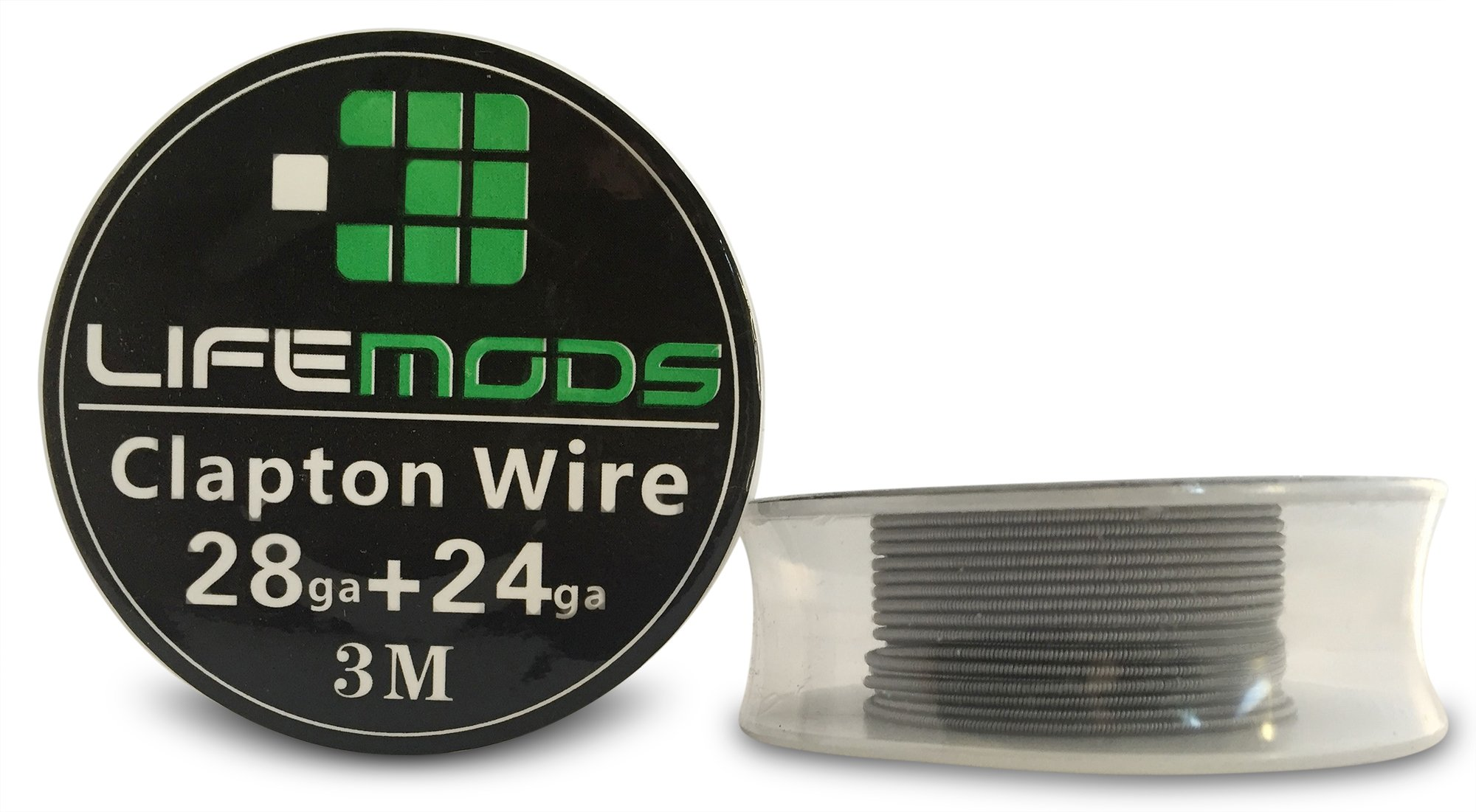 LifeMods Clapton Stainless Steel Wire AISI 316L spool AWG 28/24 gauge 10' feet/roll