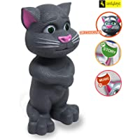 Zest 4 Toyz Interactive Talking Cat with Stories and Touch Functions, Musical Cat Doll Toy - Grey , Height 19 cm