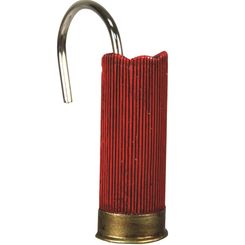 Shot Shell Shower Curtain Hooks
