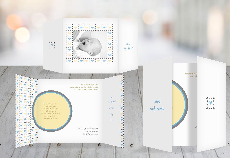 Kartenparadies Danksagung für Geburt Baby Dankeskarte Herzrahmen, hochwertige Danksagungskarte Baby inklusive Umschläge   10 Karten - (Format  145x145 mm) Farbe  Lila B01N16WG7V | Spezielle Funktion  | Verrückter Preis  | Berühmter Laden