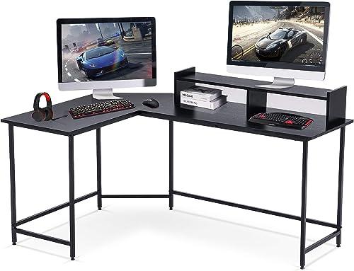 Ivinta L-Shaped Desk 63″ Computer Corner Desk