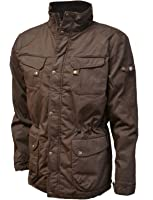 VEDONEIRE Mens Wax Jacket (3050 BROWN) motorbike coat christmas ...