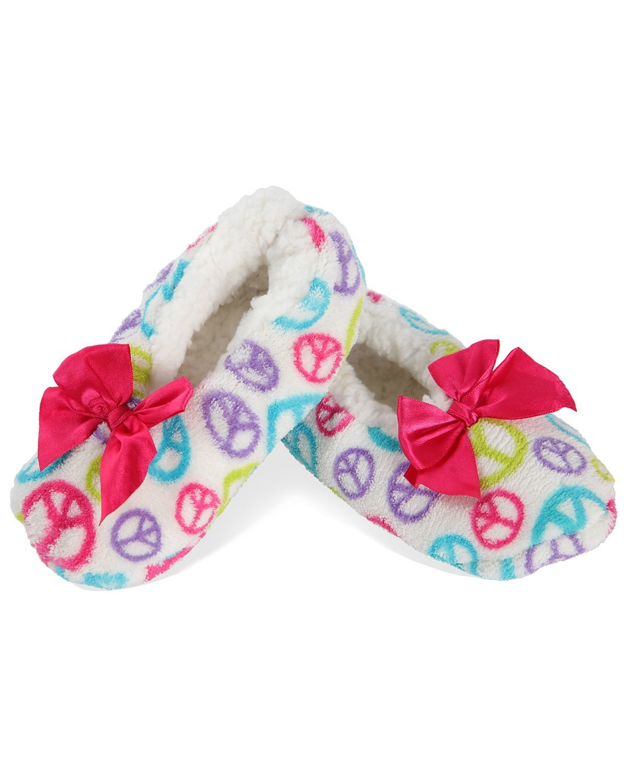3aab72c724786 MeMoi Pecae Sign Slippers | Girls Slippers and Slippers for Kids White  Multi MKF5 2517 L