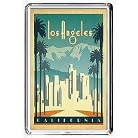 B632 LOS ANGELES KÜHLSCHRANKMAGNET USA VINTAGE TRAVEL PHOTO REFRIGERATOR MAGNET