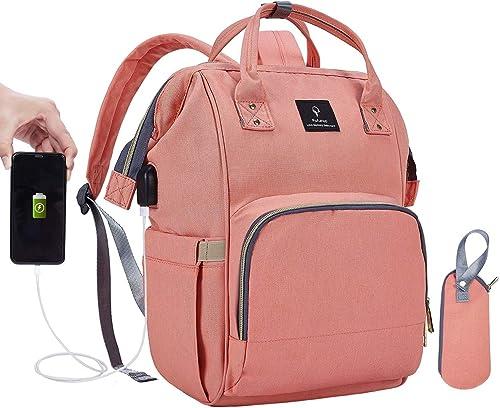 RED Diaper Bag Diaper Backpack Nappy Bag Waterproof Multi-Function Changing Bag Stroller Bag for Baby Care for Stroller Organizer