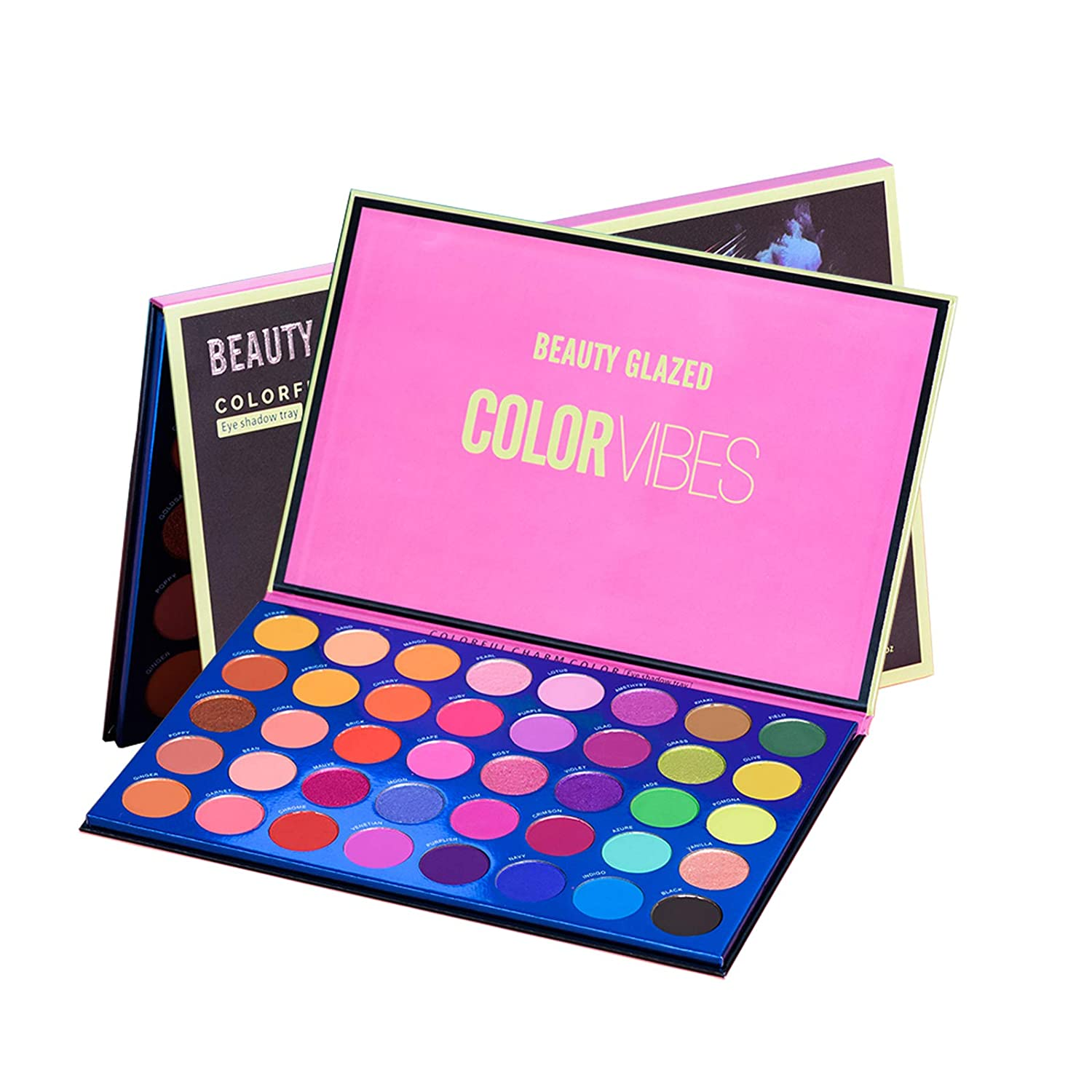 Eyeshadow Palette Matte Shimmer and Glitter 40 Color eyeshadow Smooth Texture Colorful Powder Makeup Palette Long Lasting Charm Neutarl Professional Eye Shadow Tray