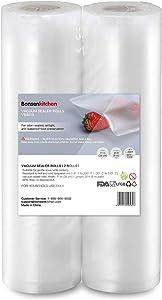 "Vacuum Sealer Bags Rolls 11"" x 20"", BPA Free Food Vacuum Storage Bags, Commercial Grade Vac Seal Bags Great for Vac Storage, Meal Prep or Sous Vide (2 Pack)"