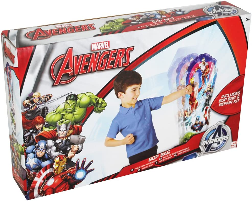Marvel Avengers Bop Bolsa hinchable Saco de boxeo Wobble Bolsa Toy Capitán América: Amazon.es: Hogar