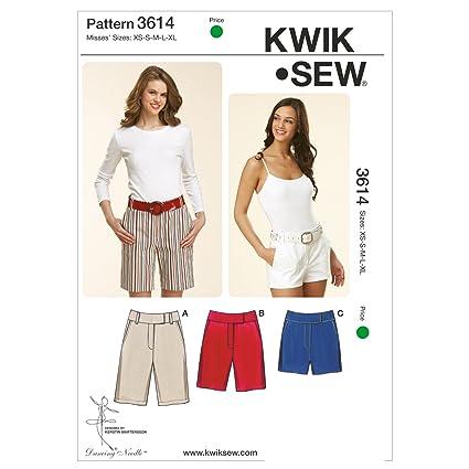 Amazon.com: Kwik Sew K3614 Fitted Shorts Sewing Pattern, Size XS ...