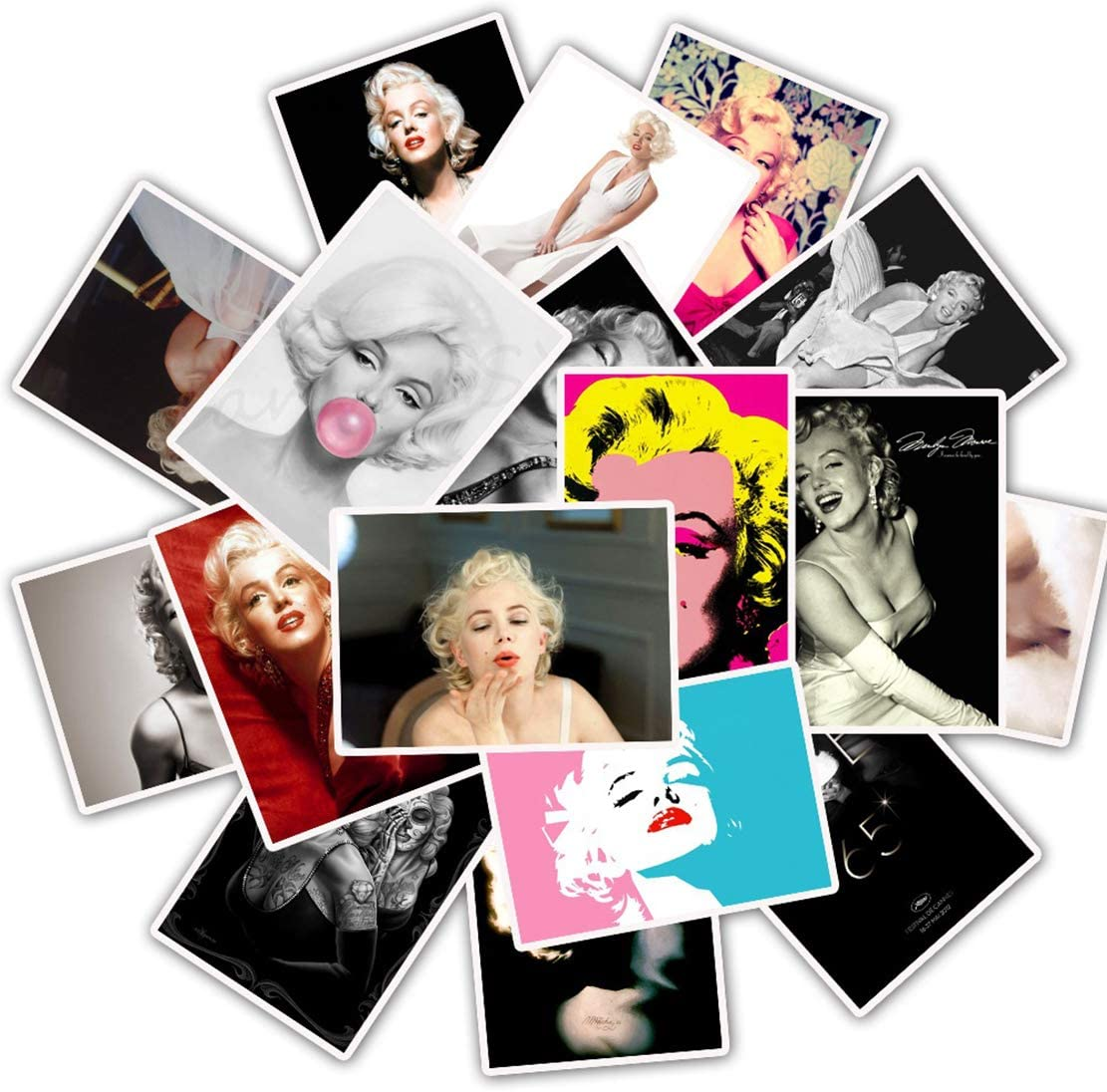 ARPA 25Pcs Idol Marilyn Monroe Stickers for Laptops Books Cars Motorcycles Skateboards Bicycles Suitcases Skis Luggage Cup Hydro Flasks etc DJHSL