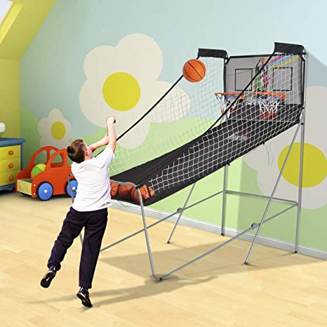 HOMCOM Juego de Canastas de Baloncesto Plegables y Portátiles con ...