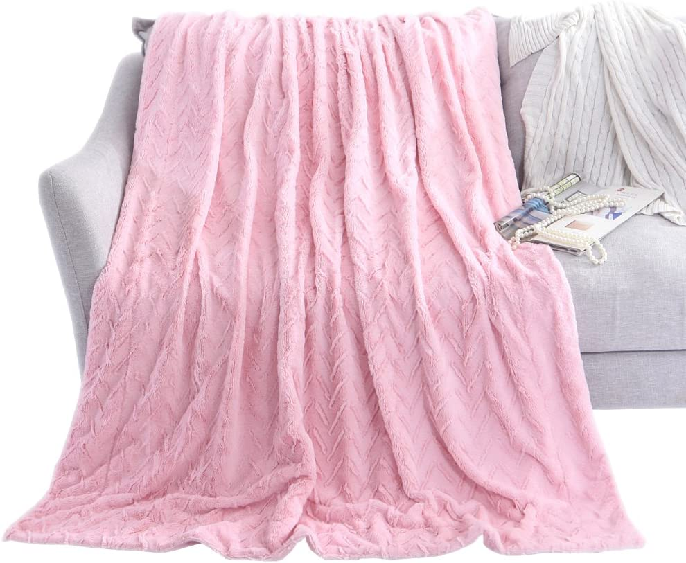 CHEVRON MICROFIBRE Super soft BLANKET Warm Fluffy Quality THROW 5 COLOURS
