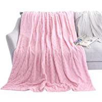 LIFEREVO Luxury Faux Fur Throw Blanket Chevron Brushed Fleece with Crystal Velvet Mink Reversible, Super Soft, Smooth and Cozy Warm for All Seasons