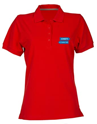 Speed Shirt Polo para Mujer Rojo T0531 CHIETI e ti Sara tato Fun ...