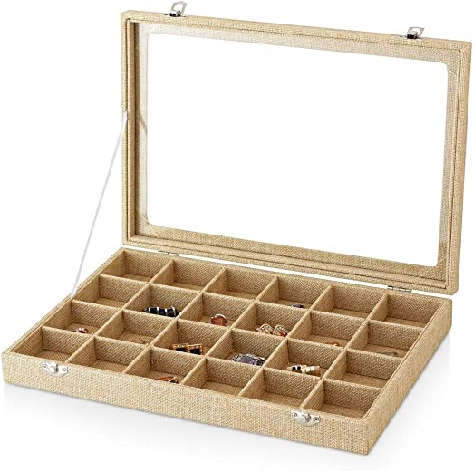 YiWu - Caja para Pendientes y Anillos, Organizador de Anillos ...