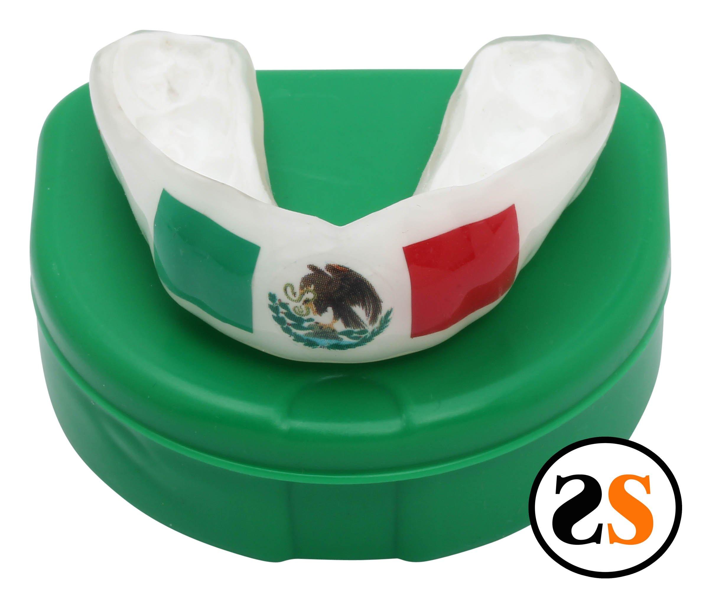 SportingSmiles Custom Mexican Flag Mouthguard