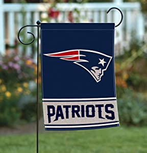 Home Garden Flags Double Sided, Burlap American Football House Yard Decoration, America Patriotic Rustic Seasonal Yard Flags 12.5 x 18 Inch AG014