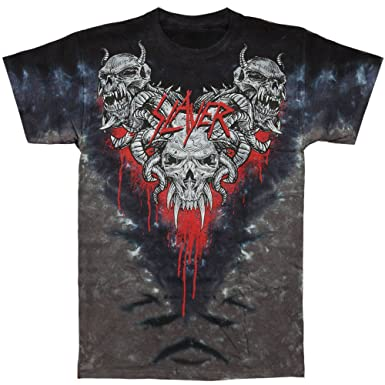 Amazon.com: Slayer Men's Hell Awaits Tie Dye T-shirt Black: Music ...