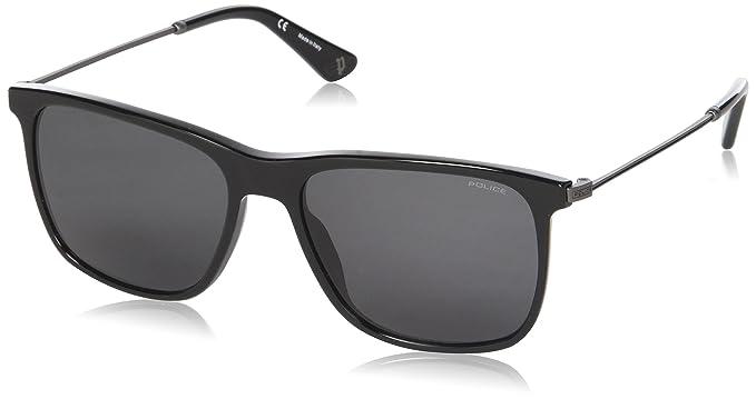 Police Avenue 2, Gafas de sol para Hombre, Negro (Shiny ...
