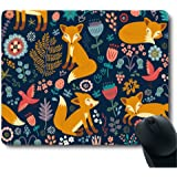 National Style Fox Pattern Stain Resistance Collector Kit Kitchen Drink Coaster Mouse Pad
