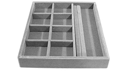 Amazoncom 15x12x2 Jewelry Organizer Wood and Velvet Tray