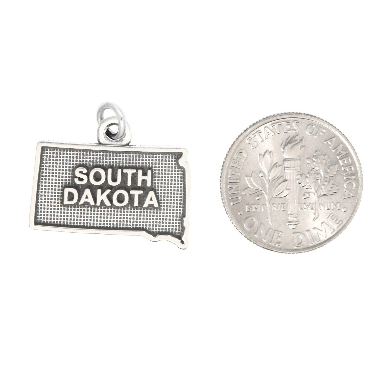 Lgu Sterling Silver Oxidized South Dakota Charm with Options
