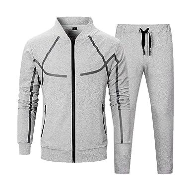 529831dd04 Men's Tracksuit Set 2 Piece Athletic Sports Casual Full Zip Active wear  Sweatsuit