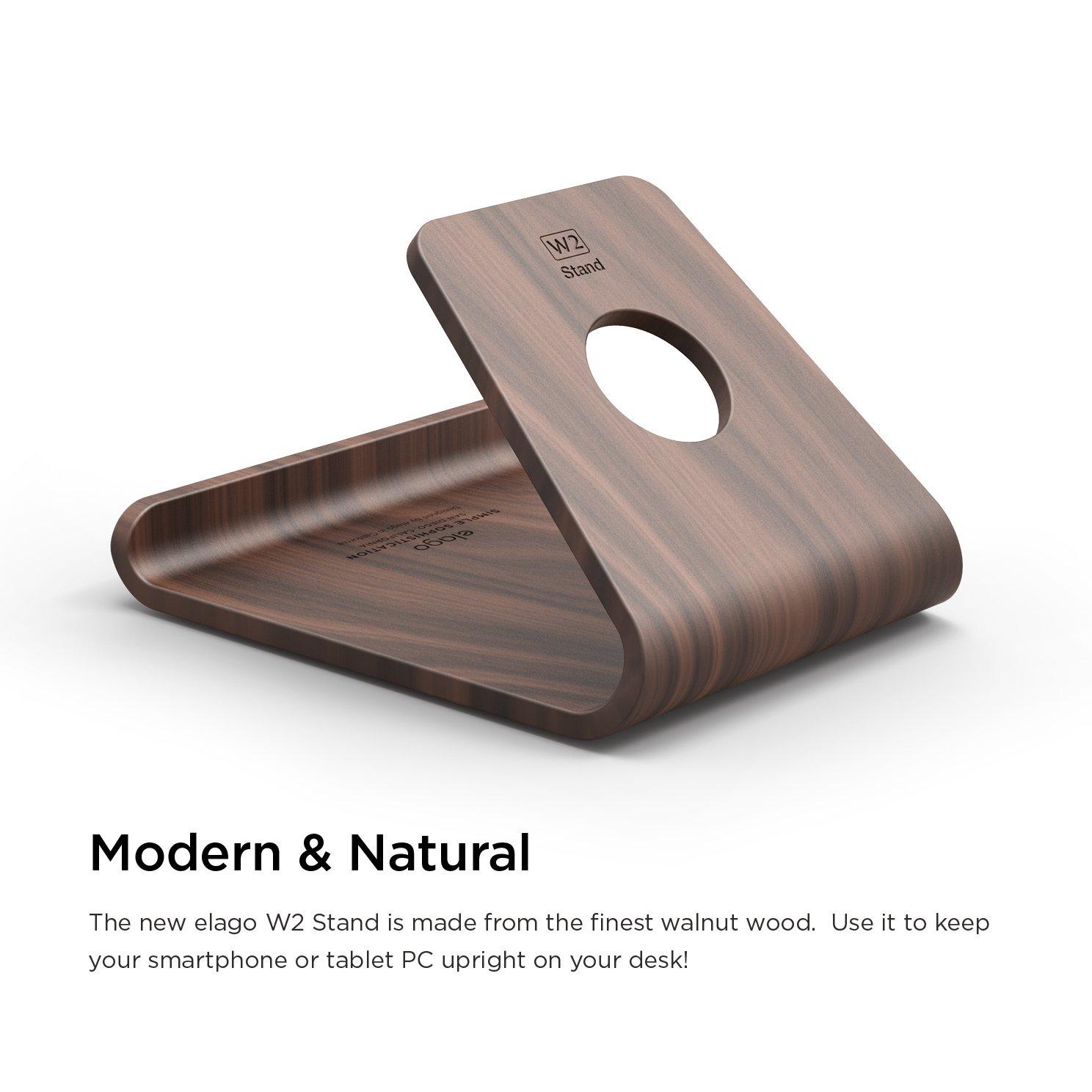 Amazoncom elago Wood Stand Authentic Walnut Premium Walnut