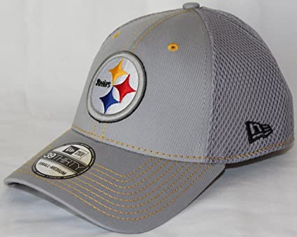 55f788d06 Image Unavailable. Image not available for. Color  New Era Pittsburgh  Steelers NFL 39THIRTY Gray Neo Flex Fit Hat