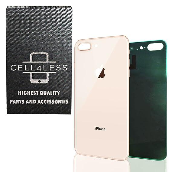 5babf9fa715 CELL4LESS Tapa Trasera de Vidrio OEM para Puerta de batería de Repuesto con  calcomanía y Herramienta de extracción para Apple iPhone 8 Plus