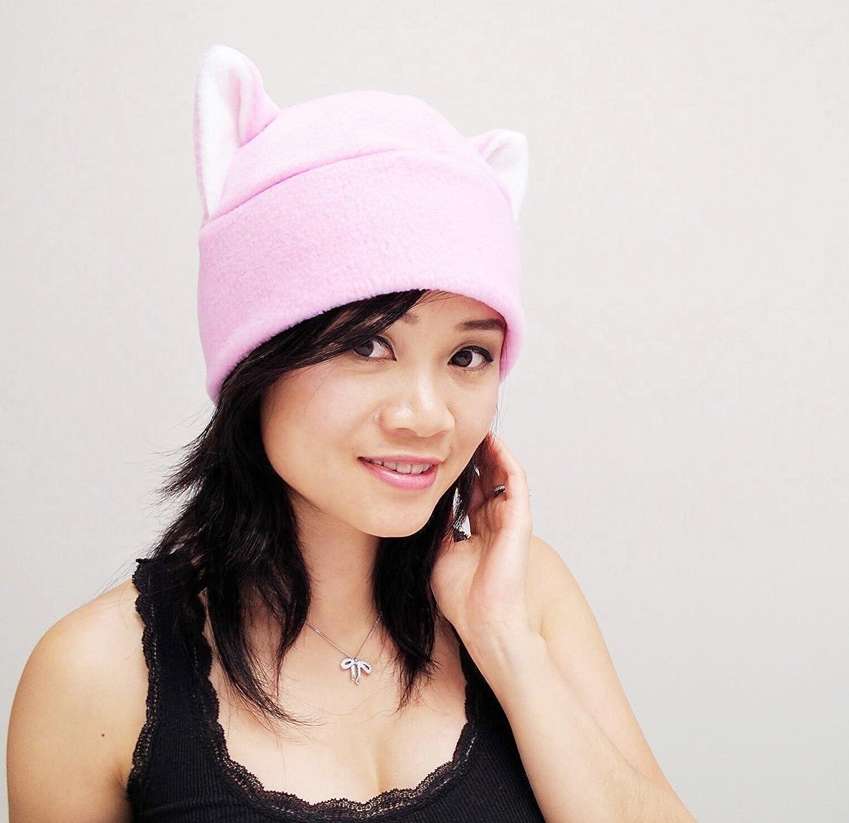 cb45e2bc2d7f07 Amazon.com: Pink pussy hat, Pussy Hat, Pussy cat hat, Pink Pussy Hats, Pussy  Beanie Hat, Cat ear Hat, Pink Cat Ear Hat Toque Beanie Feline Kitty Kitten  ...