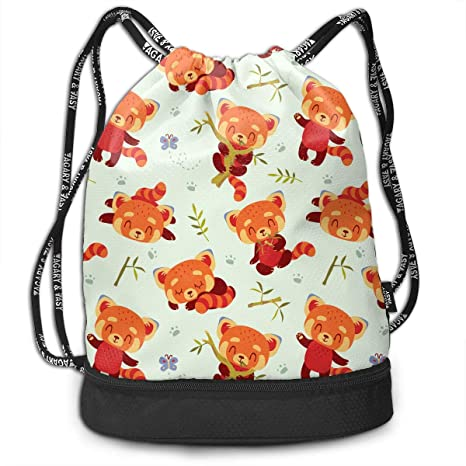 Trableade Cartoon Kawaii Style Red Panda Multifunctional Bundle Drawstring  Backpack Portable Shoulder Bags Travel Sport Gym 85206426f8cfd